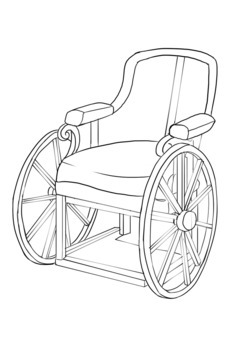 old wheelchair